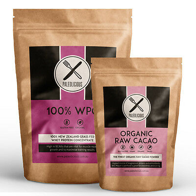 WPC Bundle- 3kg Grass Fed NZ Whey Protein Concentrate + 1kg Organic Raw Cacao