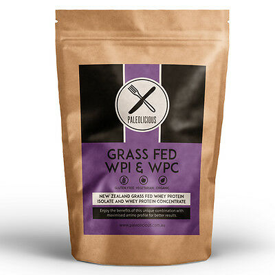 100% Grass Fed New Zealand Whey Protein Isolate (WPI) & Concentrate (WPC) - 3kg