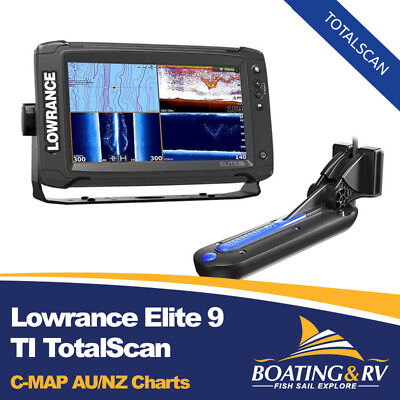 Lowrance Elite 9 TI - Totalscan, Fishfinder GPS Chartplotter, C-MAP AU/NZ CHARTS