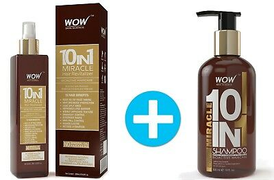 WOW 10 in 1 Tea Tree Oil Shampoo and Leave In Conditioner Hair Mist Spray Set