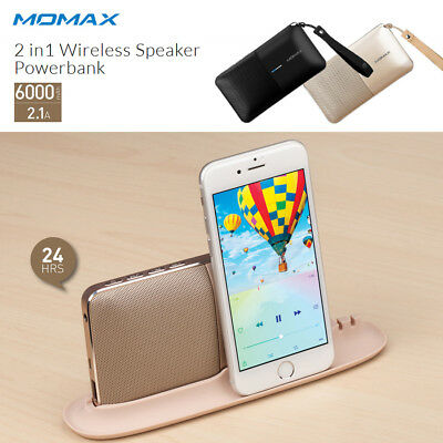 New MOMAX 2 in1 Bluetooth Speaker Powerbank for Apple iPhone X & iPhone 8 Plus