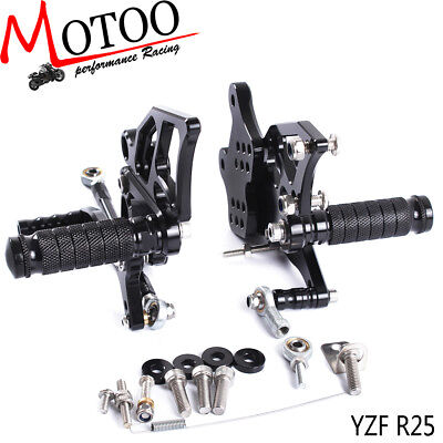 CNC Rearset Rear Set Footrest Peg Pedal For YAMAHA YZF-R3 R3 R25 2014-2017