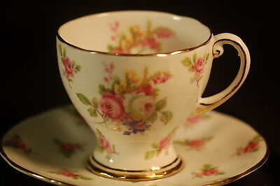 Royal Standard Floral Cup and Saucer - demi