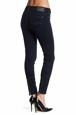 SILVER JEANS Sale NWT Mid Rise Tuesday Dark Ankle Zipper Skinny Jean Sizes 30 31