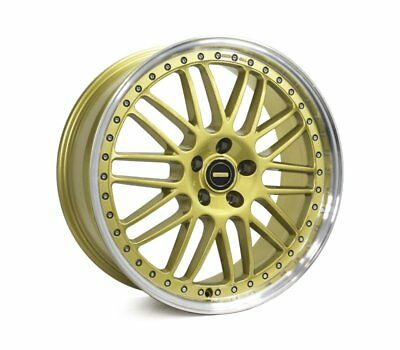 AUDI  A4 2008 TO CURRENT WHEELS PACKAGE: 20x8.5 20x9.5 Simmons OM-1 Gold and Kum