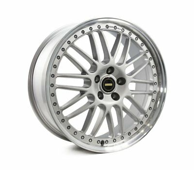AUDI  A4 2008 TO CURRENT WHEELS PACKAGE: 20x8.5 20x9.5 Simmons OM-1 Silver and K