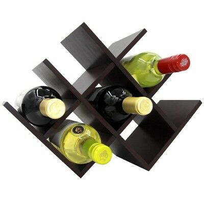 Autree Espresso Bamboo Wine Rack 8-bottles Countertop. Shipping is Free