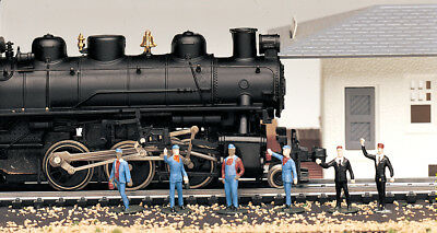6 x Train Crew Bachmann 42333- Model Trains HO - Fully painted & assembled