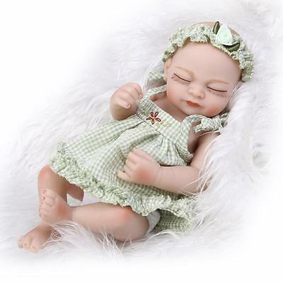 "10"" Reborn Baby Dolls Lifelike Newborn Artist Handmade Sleeping Girl Doll Gifts"