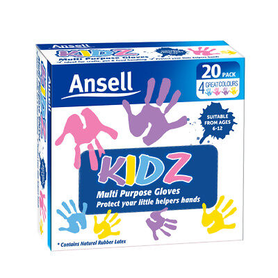 Ansell Handy Clean Kidz Disposable Gloves 20pk ideal for kids painting