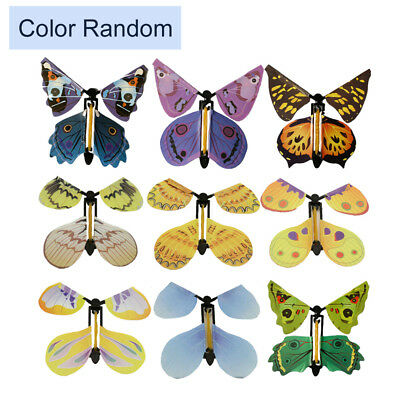 1pc Flying Butterfly Surprise Greeting Card Book Magic Toy Fly Wind Up Random