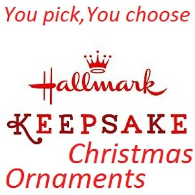 Hallmark Keepsake Christmas Ornaments ~You Pick,You Choose~ Please Read