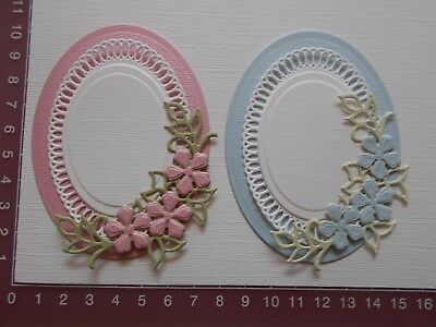 Die cuts, Embossed - Flowers, Oval Mats, Card Toppers, Embellishments - Lot 1