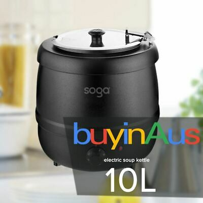 SOGA Cast Iron 10 Litre Commercial Soup Kettle Electric Soup Warmer