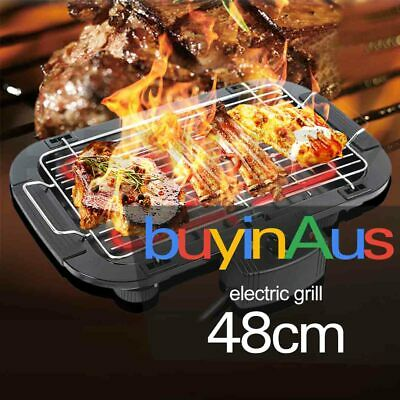 Non Stick 2000W Electric Teppanyaki BBQ Grill Table Hot Plate 3-5 Persons