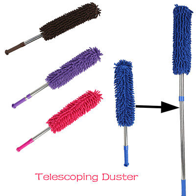 Ultra-fine Microfibre Duster Feather Style Extendable Brush Telescoping Handle