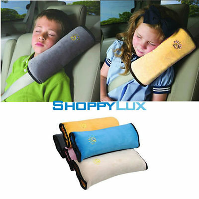 Baby Child Headrest Support Pillow Car Seat Cushion Shoulder Pad Belt for Safety