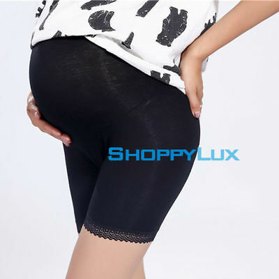 Maternity Pantyhose Women Pregnant Soft Cotton Lace High Waist Trousers Panties