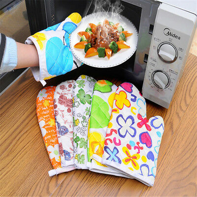 1 Pc Kitchen New Cooking Varity Microwave Oven Gloves Mitt Baking Tool Cotton
