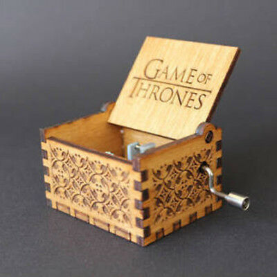 Game of Thrones Music Box Engraved Wooden Music Box Interesting Toys Xmas Gifts