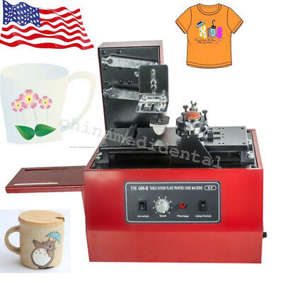 From US! ELECTRIC PAD PRINTER PRINTING MACHINE T-SHIRT INKPRINT PVC MUG CUP CAN
