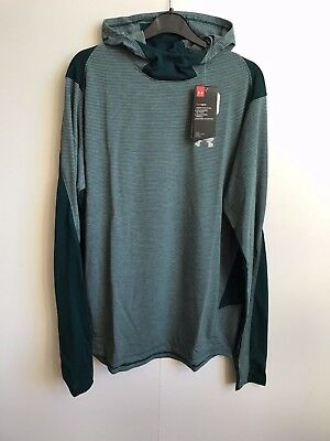 Under Armour 2017 UA Mens Threadborne Run Mesh Hoodie - Large - Green - BNWT