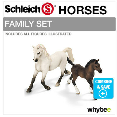 SCHLEICH ARABIAN HORSE FAMILY Set Including 13762 + 13761 Brand New