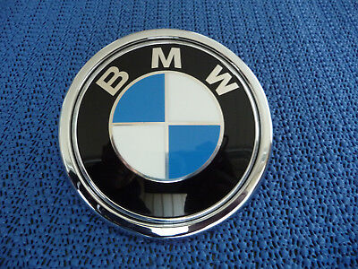 original bmw 72mm heck front emblem zeichen 8219237. Black Bedroom Furniture Sets. Home Design Ideas