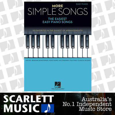 MORE SIMPLE SONGS - The Easiest Easy Piano Book *NEW* Sheet Music 50 Favourites