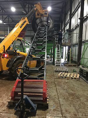 Conveyor system 800mm wide x 7 meters long, with belt, NEW, Made from stock