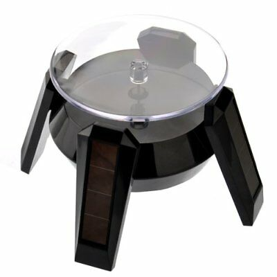 VORCOOL 360degree Rotating Display Stand Solar or AA Battery Powered Black NEW