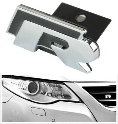 R Logo R-Line Car Front Grille Emblem Badge For VW Golf Jetta MK5 MK6 Passat B6