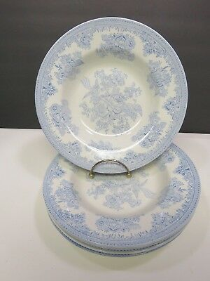 Set of 5 Burleigh Asiatic Pheasants Rimmed Soup Bowls 9""
