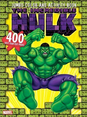 INCREDIBLE HULK JUMBO COLOR & ACTIVITY BOOK By Marvel *Excellent Condition*