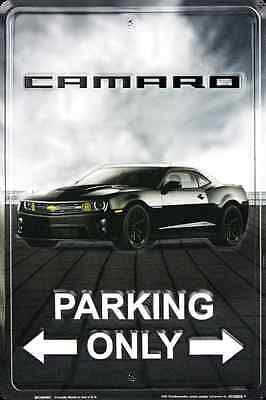 "Camaro Parking Only 8"" x 12"" Embossed Metal Tin Sign MADE IN THE USA"