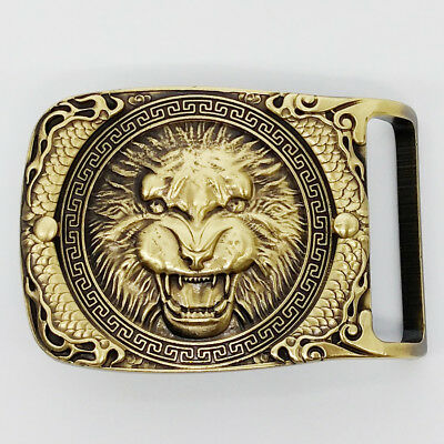 Belt Buckles For men Solid copper Lion cowboy western for Belt width 3.7-4.0cm