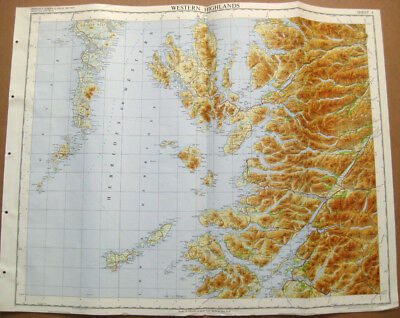 WESTERN HIGHLANDS SCOTLAND Large Ordnance survey Map 1969 Sheet #4