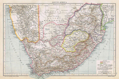 SOUTH AFRICA Antique Map 1893 by Cassell