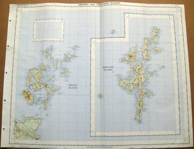 ORKNEY and SHETLAND ISLANDS Large Ordnance survey Map 1969 Sheet #1