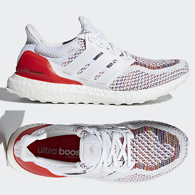 b3b04c6aa adidas Ultra Boost 2.0 Multicolor Rainbow Running Shoes White Red BB3911  Sizes