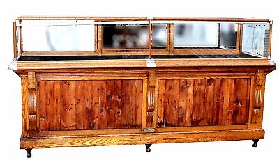 Antique American Oak Country Store Display Case, C.V.Hill & Co. & Joseph Knittel