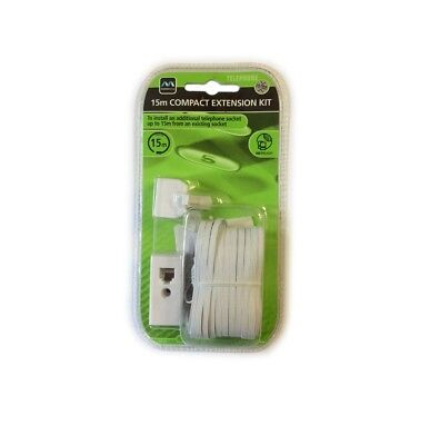 MasterPlug15m Compact Telephone Extension Kit to Install an Additional Socket