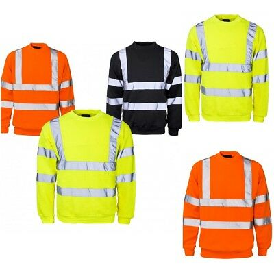 HI VIZ HI VIS HIGH VISIBILITY JACKET HOODIE HOODY SWEAT SHIRT FLEECE / S to 4XL