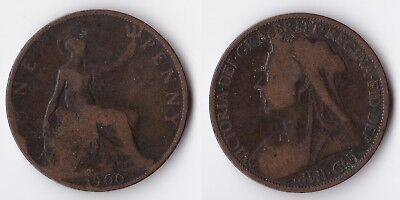 1900 Great Britain 1 penny coin