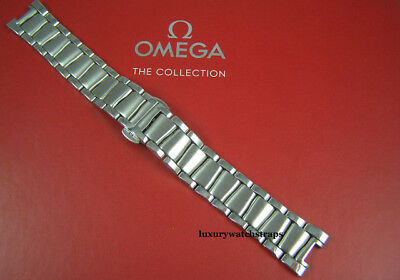 Stainless Steel Bracelet Strap For Omega Ladymatic 425 Watch Solid Links - New