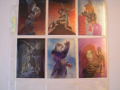 The Painted Cow   Trading Cards Subset  Chase Chromium  1 A 6 Complet 1997 Tbe