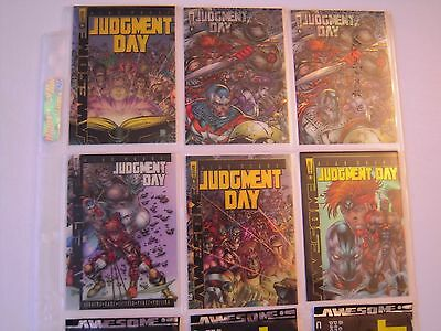 Judgement Day  Trading Cards Subset Clearchrome  1 A 6 Complet 1997 Tbe