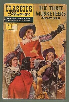 Classics Illustrated Comic book number 1 The Three Musketeers #504