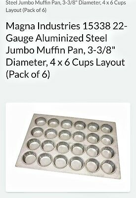 Magna industries commercial grade baking pan 24 count muffin. Item 15338 22
