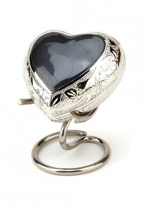 Epping Grey Heart Keepsake Ashes Cremation Urn - UU410009A